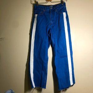 Zara High-Rise Semi-Wide Leg Jeans